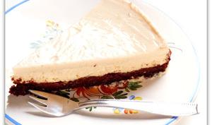 Cheesecake vegan bergamote et poire