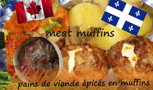 Muffins pains de viande fourrés au fromage