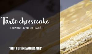 Tarte Cheesecake au caramel beurre salé à la pomme