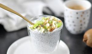 Chia pudding lait de coco et kiwi