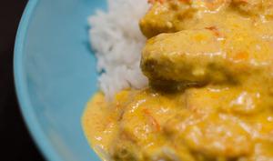 Filet de colin au curry