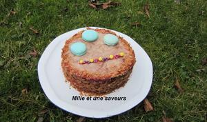 Molly cake avec curd framboise