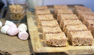 Barres de chamallow et rices krispies