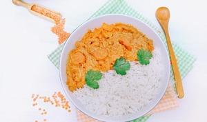 Dahl de lentilles corail aux carottes