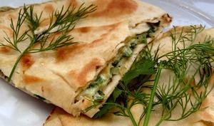 Pita à l'omelette aux herbes