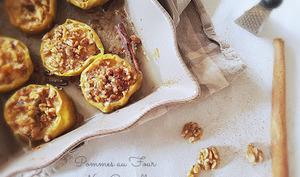 Pommes au four noix miel canelle
