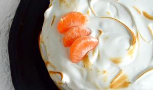 Layer cake meringué au chocolat et à la mandarine