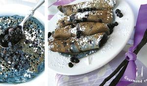 Pancakes vanille / myrtille