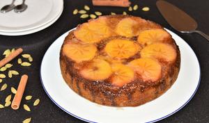 Gâteau renversé aux épices et au kaki