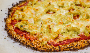 Pizza pâte chou fleur