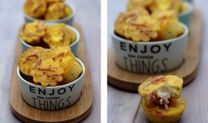 Muffins jambon et fromage coeur Kiri
