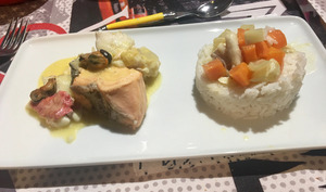 Blanquette de poisson au safran