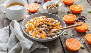 Porridge d'orange et chocolat