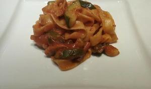One pot pasta aux courgettes et champignons