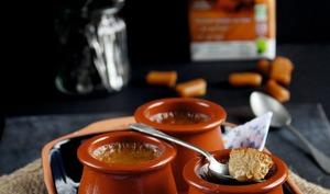 Pots de crème caramel, soja et orge