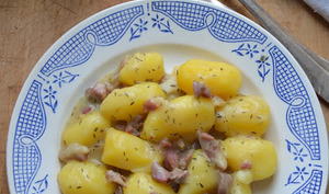 Ragoût de Pommes de terre et Jambon cru
