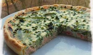 Quiche Saumon & Légumes Verts