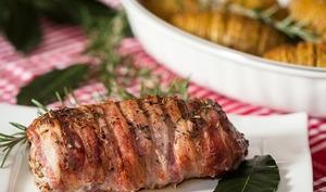 Filet mignon de porc en habit de lard fumé