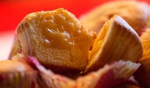 Muffins coeur crème d'orange et bergamote curd