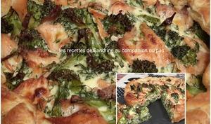 Tarte au saumon fumé et brocolis