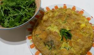 Omelette verte au chèvre et à la menthe