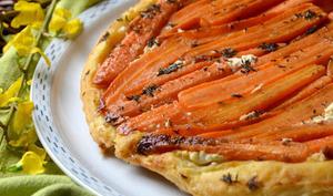 Tarte Tatin de carottes et chèvre