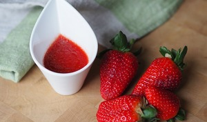 Sauce vinaigrette à la fraise