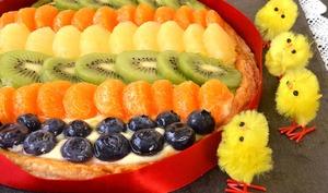 Tarte feuilletée multi-fruits œuf de Pâques