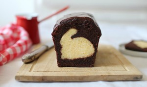 Gâteau caché au chocolat « Lapin de Pâques »