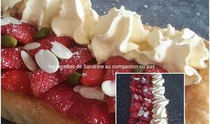 Tarte aux fraises et sa chantilly vanille