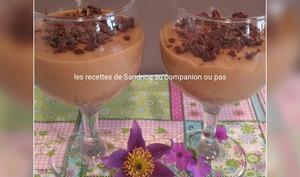 Crème dessert onctueuse au café et ses copeaux de chocolat