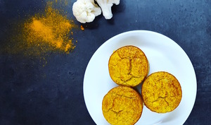 Mini-flans de chou-fleur au curry sans lait