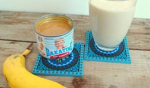Milk-shake banane et beurre de cacahuètes