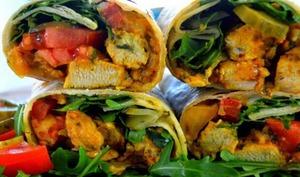 Shawarma poulet pita kebab