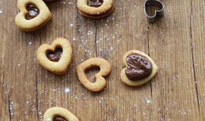 Sablés choco-noisettes pour la Saint - Valentin