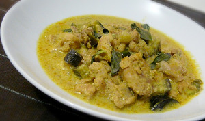 Curry de poulet thaï