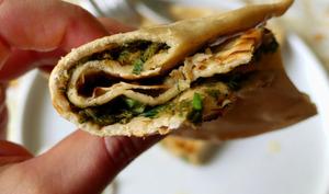 Göyerti Qutab, pains plats azéris à l'oseille