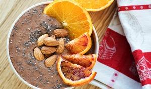 Smoothie bowl chocolat agrumes