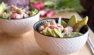 Salade craquante de pois chiches