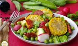 Salade légumes frais épis de maïs