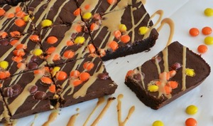 Brownie au chocolat et Reese's pieces