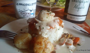 Coquilles St-Jacques sauce cancoillotte