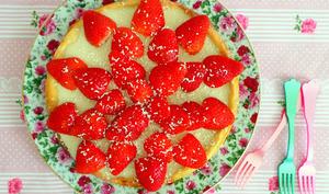 Tarte ganache au chocolat blanc et aux fraises