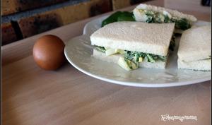 Sandwichs aux oeufs et au cresson