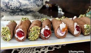 Cannoli siciliens à la pâte de pistache