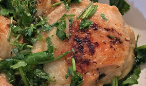 Le poulet magique au gingembre et à la coriandre