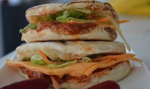 Hamburger végétarien marocain