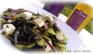 Salade de laitue de mer feta concombre