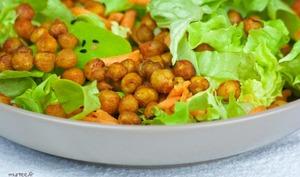 Salade de pois chiche grillés