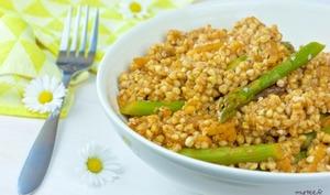 Des asperges aux graines de sarrasin